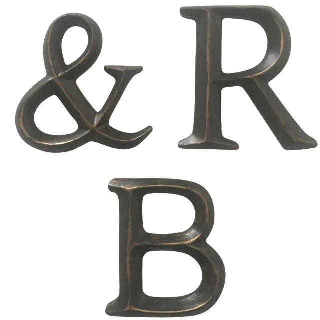 vintage wall mount resin letters quot r b quot chairish With resin letters