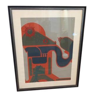 Modernist Elephant Lithograph