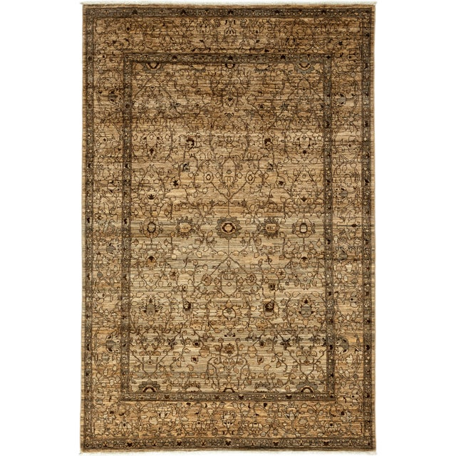 """Gabbeh Hand Knotted Area Rug - 6'7"""" X 9'9"""" - Image 2 of 3"""