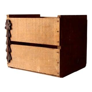 Rustic Slat Wood Box