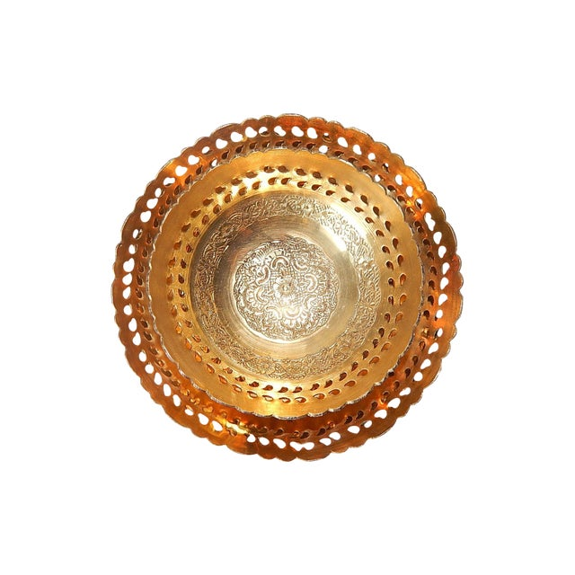 Ambika Brass Bowls - Set of 4 - Image 1 of 8