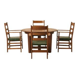Arts & Craft Dining Table & Chairs - Serving of 5