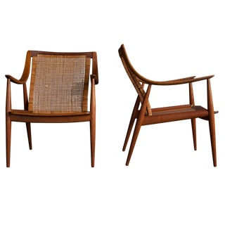 Peter Hvidt Lounge Chairs - Pair