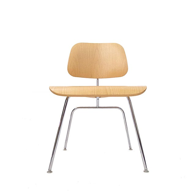 """Charles Eames """"DCM"""" Chairs for Herman Miller in White Ash - Set of 6 - Image 3 of 7"""