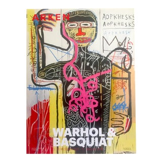 Andy Warhol & Jean Michel Basquiat Rare Original Offset Lithograph Print Poster
