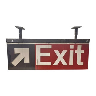 Vintage 70s MTA New York City Subway Exit Sign