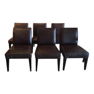 Lee Leather Dining Chairs - Set of 6
