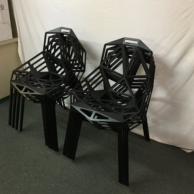Magis Black Chair One - Set of 8 - Image 7 of 10