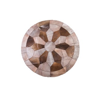 """Aydin Cowhide Patchwork Rug - 5'3"""" x 5'3"""""""