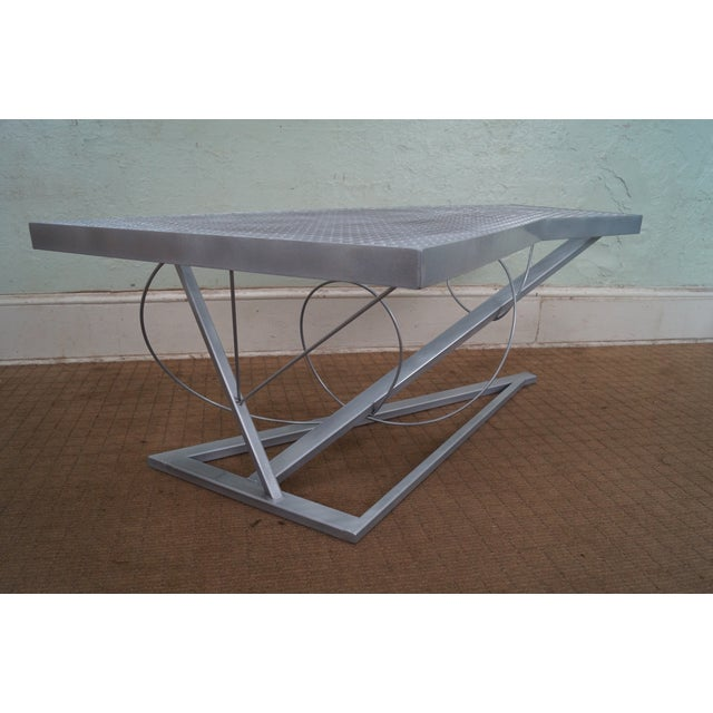 Contemporary Expanded Metal Coffee Table - Image 10 of 10