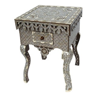 Pair of Mother-of-Pearl Inlay Side Tables, Syrian