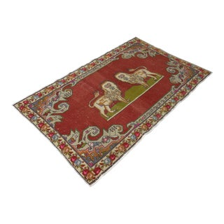 Vintage Tribal Hand Knotted Anatolian Rug - 4′7″ × 7′5″
