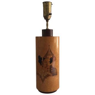 Andrew Szoeke Mid-Century Art Deco Inlaid Lamp