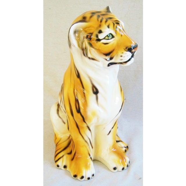Large Mid-Century Porcelain Italian Tiger - Image 8 of 11