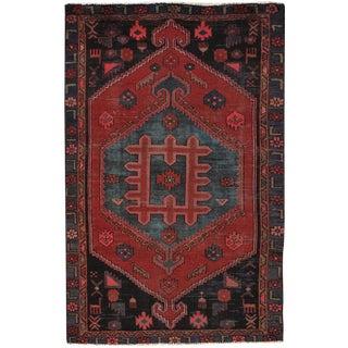 """Vintage Hamadan Wool Area Rug - 4'1"""" X 6'2"""""""