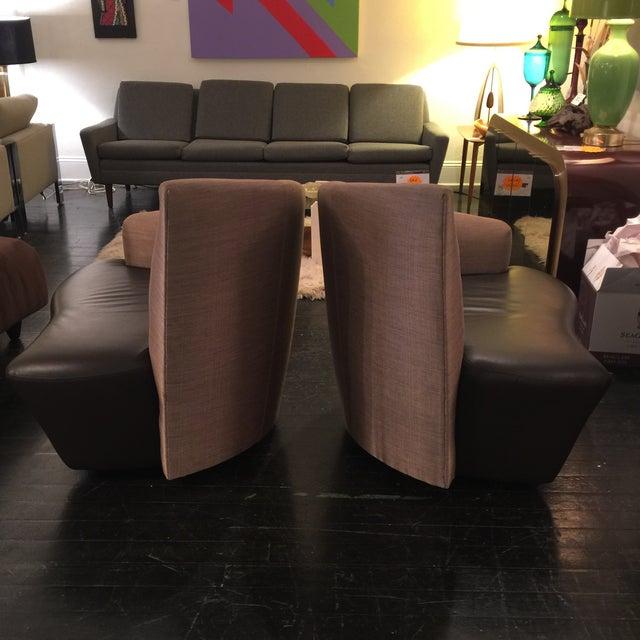 "Vladimir Kagan ""Bilbao"" Swivel Chairs - a Pair - Image 6 of 8"