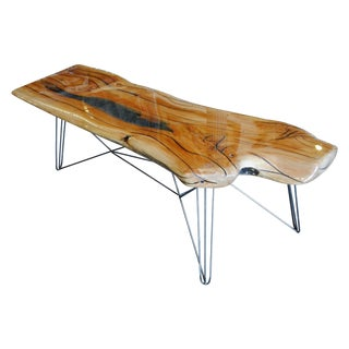 Live Edge Oak Slab Coffee Table Luminescent