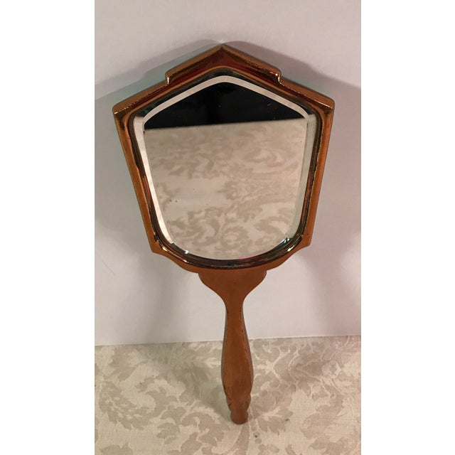 Art Deco Green Guilloche Hand Mirror - Image 7 of 11
