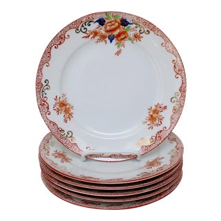 Japanese Vintage Salad Plates - Set of 6