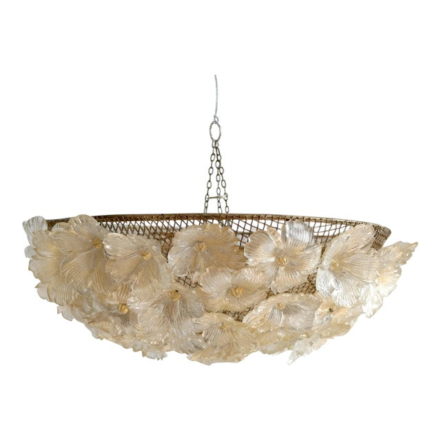 Barovier & Toso Floral Murano Glass Chandelier - Image 1 of 8
