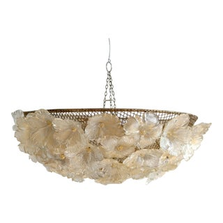 Barovier & Toso Floral Murano Glass Chandelier
