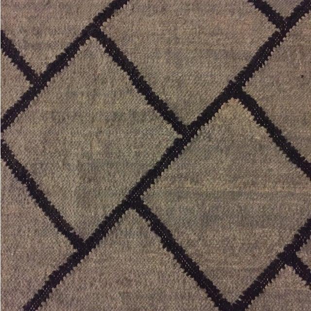 Gray and Black Bamboo Silk Rug - 9' x 12' - Image 6 of 6