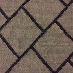 Image of Gray and Black Bamboo Silk Rug - 9' x 12'
