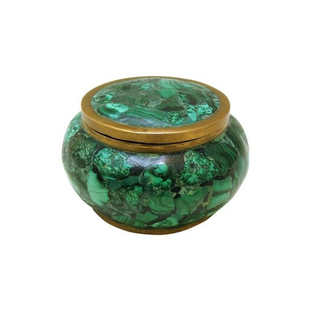 Round Malachite Lidded Box - Image 1 of 8