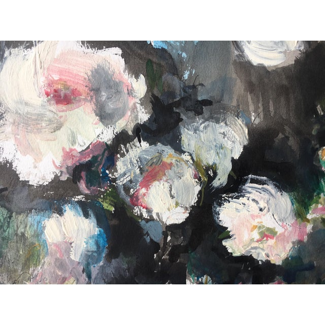 """""""White Roses"""" Painting - Image 3 of 4"""