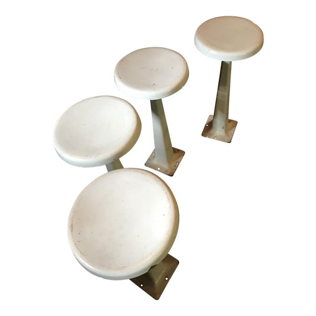 Vintage Counter Enamel Stools - Set of 4 - Image 1 of 3