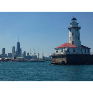Navy Pier Lighthouse and Chicago Skyline Photo by Josh Moulton