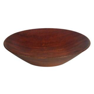 Bob Stocksdale Studio Craft Lathe Turned Mahogany Fruit Bowl
