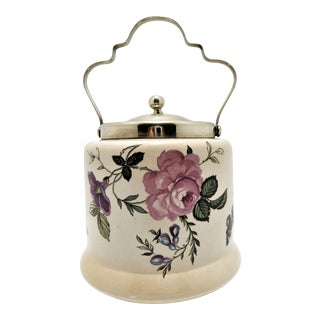 Antique European Porcelain Hand Painted Lidded Jar