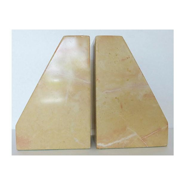 Beige Marble Architectural Bookends - Image 2 of 6