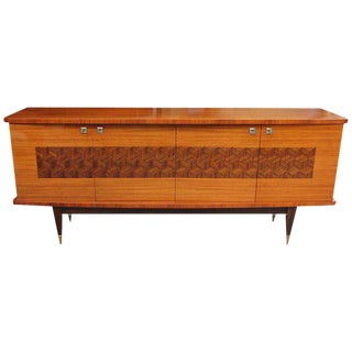 French Art Deco Light Macassar Ebony Sideboard / Buffet Circa 1940s