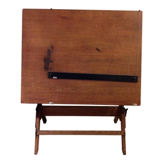 Antique Architect Drafting Table