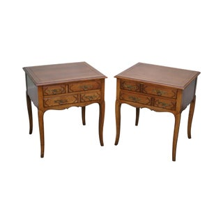 Baker Milling Road Walnut French Country Nightstands - Pair