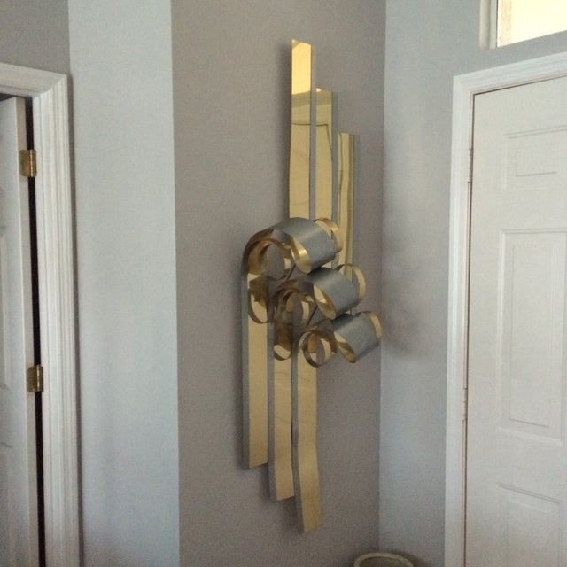 Mid-Century Two Tone Metal Ribbon Sculpture - Image 5 of 9