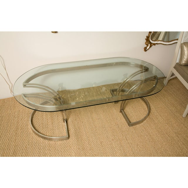 70's Art Deco Cantilevered Cocktail Coffee Table - Image 8 of 9