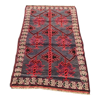 "Vintage Turkish Anatolian Bath Mat Rug- 2'9"" x 4'9"""