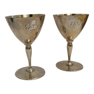 Tiffany & Co. Sterling Wine Goblets - A Pair