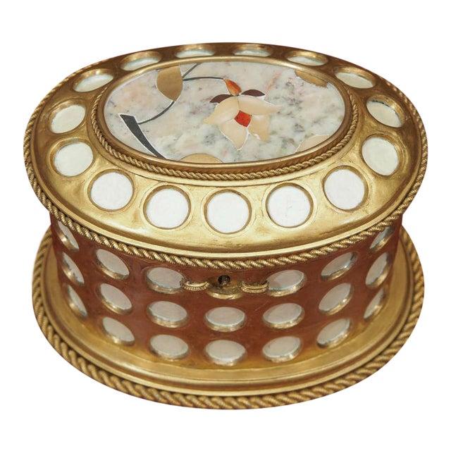 "Charles X Gilt and Mosaic Jewlery Box, Signed ""Tahan, Paris"" - Image 1 of 8"