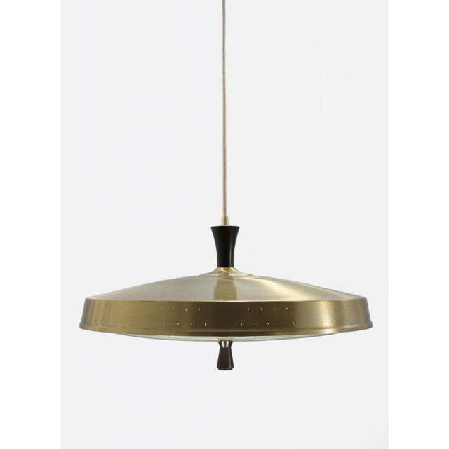 Classic 50s Pendant With Murano Glass Shade - Image 3 of 6