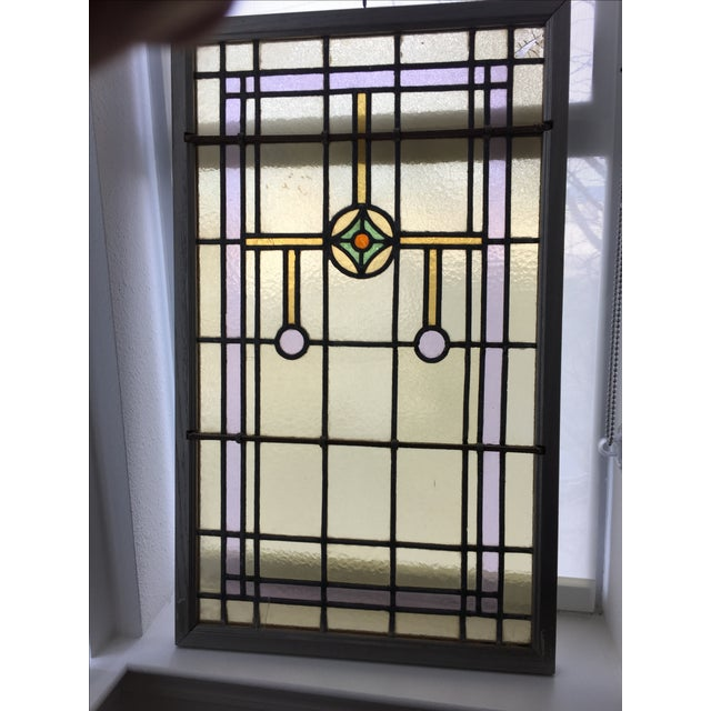 Image of English Stained Glass Windows- A Pair