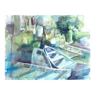 Abstracted Boats Watercolor