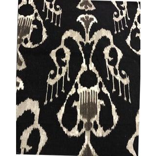 Pindler & Pindler Ebony Linen Ikat fabric - 5 Yards