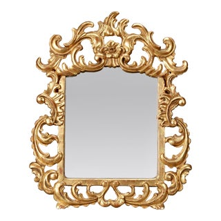 Italian Gilt Mirror With Scrolling