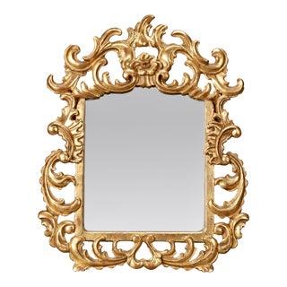 Italian Gilt Mirror With Scrolling