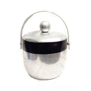 Mid-Century Vintage Stainless Steel Ice Bucket