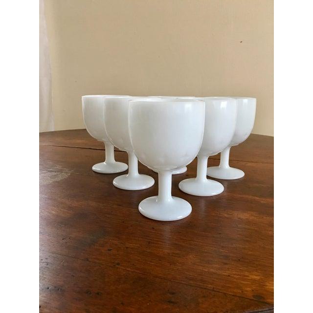 Atomic Starburst Milk Glass Goblets - Set of 6 - Image 2 of 5